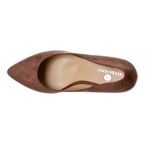 Pointed Pumps Katy Toe Womens Brown Suede Classic Riverberry Eqw1XnCX