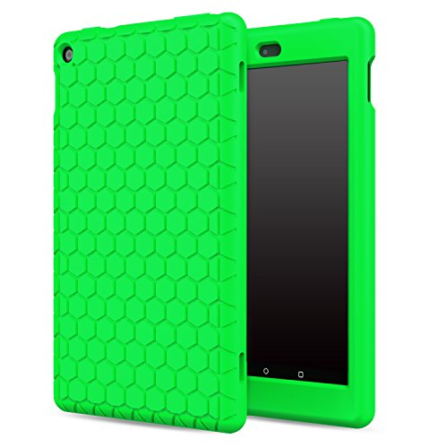 - MoKo Case for Fire HD 8 2016 Tablet - [Honey Comb Series] Light Weight Soft Silicone Back Cover [Kids Friendly] for Amazon Fire HD 8 (Previous 6th Generation - 2016 Release ONLY), GREEN