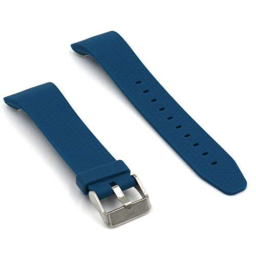 Woodln Silicone Bracelet Replacement Strap Band for Samsung Gear Fit 2 Fit2 SM-R360 Smartwatch Wristband (Light blue1) (Fb Metal Finishes Pull)