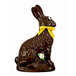 Dark Chocolate Easter Bunny - Easter Candy Chocolate for Kids - by Sugar Plum Chocolates