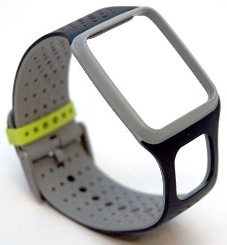 TomTom Comfort Strap Slim BLACK/GREY Runner Multi-Sport GPS watch band HRM