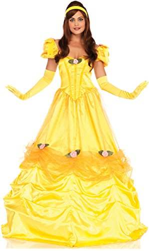 Leg Avenue Women's Belle of The Ball Beauty Costume, Yellow, X-Large
