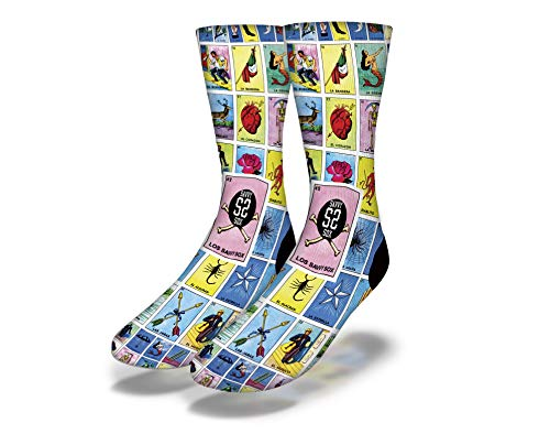 Savvy Sox Mexican Loterìa Socks| Ultra comfort socks|Extremely soft socks - Unisex |One-size Fits all
