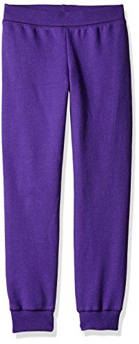 Hanes Big Girls' ComfortSoft EcoSmart Fleece Jogger Pants, Purple Thora, (Big Kids Purple Apparel)