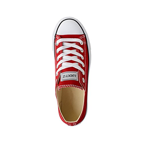 Femmes Chaussures Rouge Loisirs Sport Basic Elara De Low Lacets Baskets d6wOT