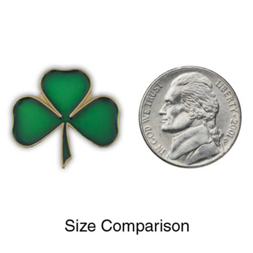 PinMart's Green Shamrock 3 Leaf Clover St. Patrick's Day Enamel Lapel Pin by PinMart (Image #3)
