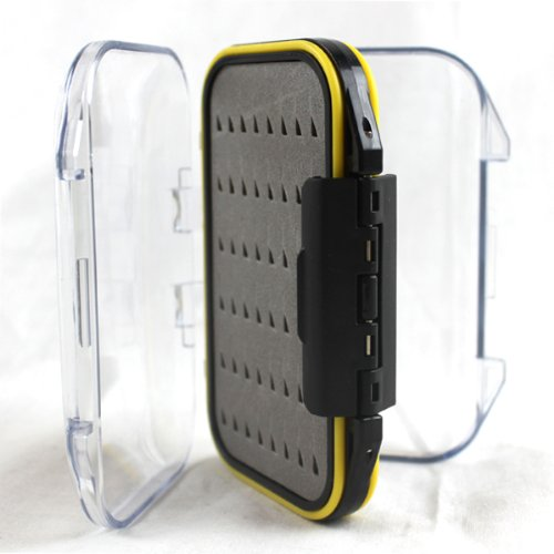 Fishing Fly Case (Elixir Outdoor Adventure Waterproof Multiple Compartments Fly Fishing Tackle Lure Box Case, 4.2