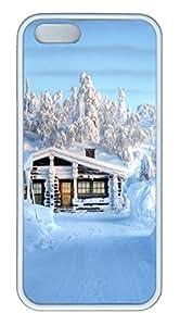 Architecture 134 TPU Silicone Case Cover for iPhone 5/5S ¨C White