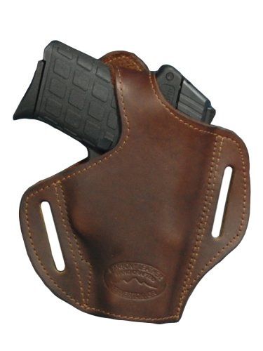 Barsony Brown Leather Pancake Holster for Walther PP PPKS PPK right (Ppk Mm Walther 9)