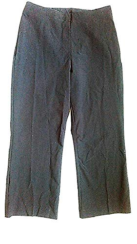 Coldwater Creek Womens Flat Front Stretch Crop Capri Pants, Black, XS
