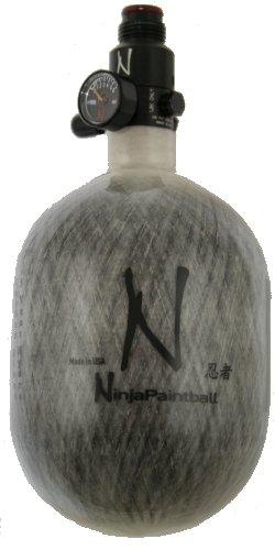 Ninja 50ci 4500psi Paintball Nitro Carbon Tank - Grey by Ninja