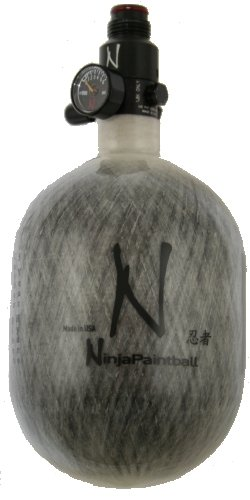 Ninja 50ci 4500psi Paintball Nitro Carbon Tank - Grey ()