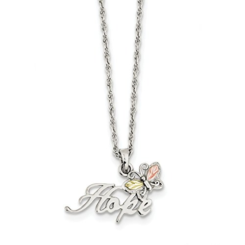 ICE CARATS 925 Sterling Silver 12k Butterfly Hope Chain Necklace Animals/insect Fine Jewelry Ideal Mothers Day Gifts For Mom Women Gift Set From (Butterfly Heart Pendant)