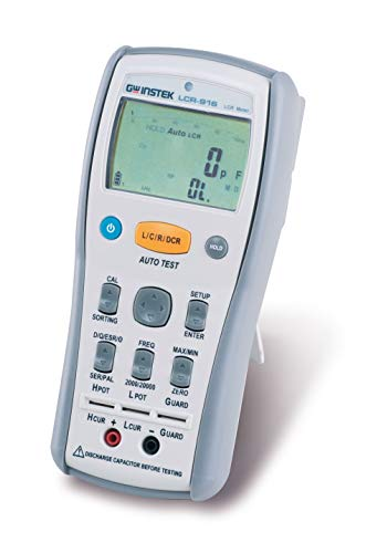 GW Instek LCR-916 Handheld LCR Meter, 100/120Hz/1/10/100kHz Selectable Test Frequency
