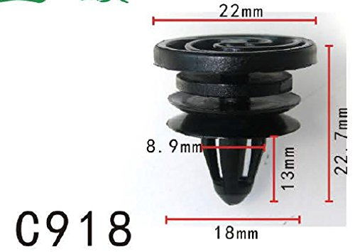 Clip de retenue garniture de panneau, maquette PF-C918 (Paquet de 20): Amazon.es: Coche y moto