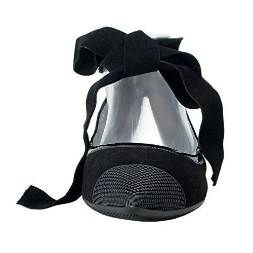 Prada Zapatos De Mujer De Ante Con Cordones De Punta De Cuero Negro De Gamuza Us 8.5 It 38.5