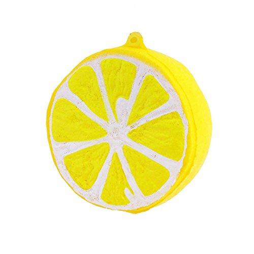 (MyMei Squishy Slow Rising Toy Stress Reliever Strawberry Cake Hand Wrist Toy (Yellow Lemon))