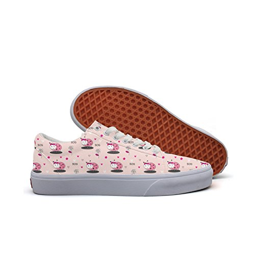 Ladybugs And Flowers Women's Casual Shoes Sneakers Footwear Sports Cute Comfortable -