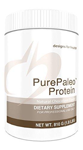 Designs for Health - PurePaleo Protein Chocolate Dairy-Free Shake Powder with HydroBEEF Beef Protein, 810g.