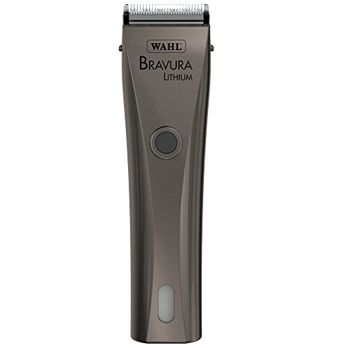 Wahl Professional Animal Bravura Pet, Dog, and Horse Corded / Cordless Clipper Kit, Gunmetal (#41870-0425)
