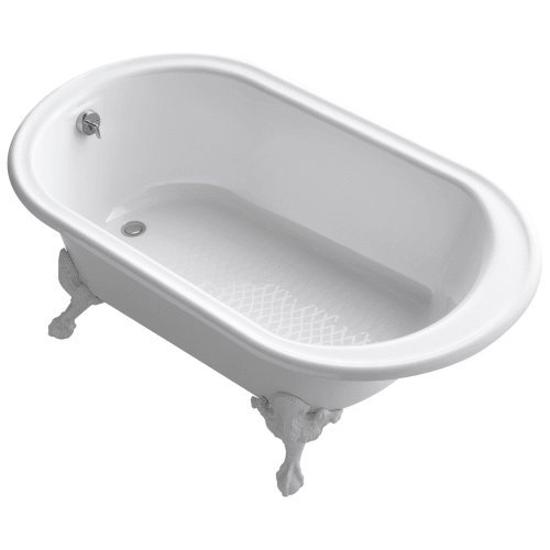 Kohler Iron Tub - KOHLER K-710-W-0 Iron Works Historic Bath, White