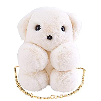 Coco & Nero Large Backpack Kawaii Bear Sling Bag with PU Lining Gold Chain: Clothing