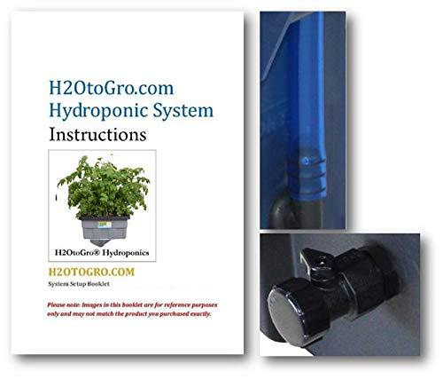 ❥ H2OtoGro 04063.75TF DWC Self Watering Hydroponic System No. 04St, 6 Site, 18x13-Inch, Black Hydroponic System 6