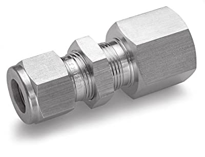 Ham-Let Stainless Steel 316 Let-Lok Compression Fitting, Bulkhead, Tube OD x NPT Female