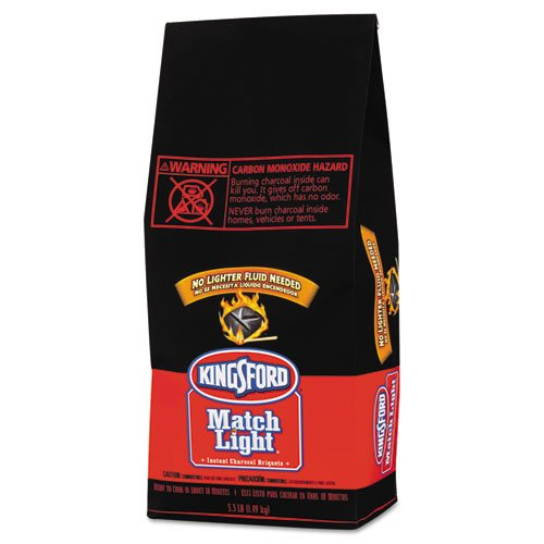 Kingsford Match Light Charcoal Briquets, 6/3.30 lb - Includes six 3.3 pound bags of charcoal per case.