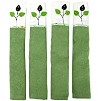 WSSROGY 2 Pairs of Refrigerator Fridge Microwave Door Handle Covers Protective Kitchen Appliance Clean from Smudges, Fingertips, Drips and Food Stains (Green Leaves)