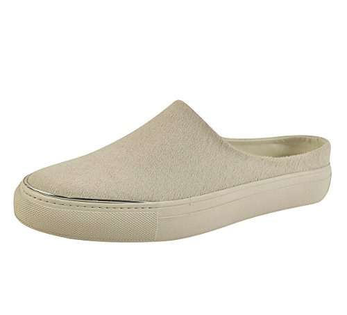 Calvin Klein Womens Ruthie Low Top Pull On Fashion Sneakers, Cream, Size 6.0