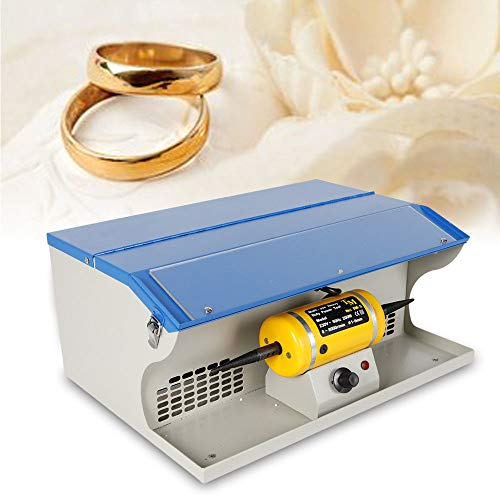 Polishing Buffing Machine KPfaster 200W Dust Collector Jewelry Polisher Table Top Polishing Buffing Motor Machine
