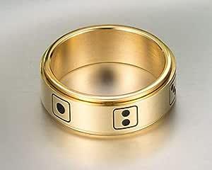 خاتم ذهبي للجنسين مقاس 12