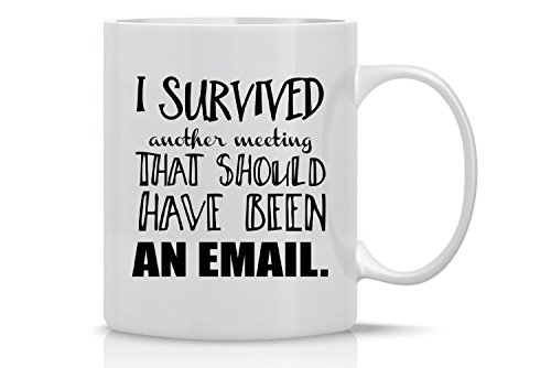 I Survived Another Meeting That Should Have Been An Email Mug- Funny Sarcastic Mug