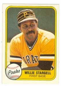 (Willie Stargell baseballl card (Pittsburgh Pirates) 1981 Fleer #363)