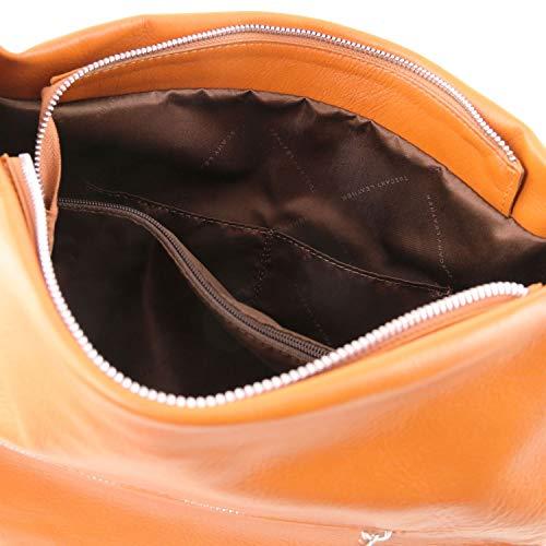 Leather Cognac morbida spalla Borsa Tuscany TL141721 pelle TLBag Cognac in a dwccqxvPT