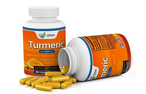 Turmeric Curcumin Supplement 600mg with Bioperine, Natural Turmeric Root Powder, Standardized and Enriched with 95% Curcuminoids, Joint Support, Anti-inflammatory, Antioxidant, Pain Relief Supplement