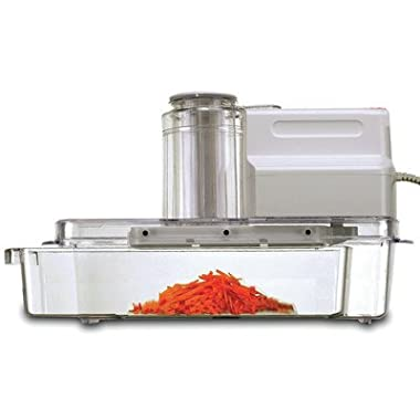 GForce GF-P1158-572 Electric Mandoline Vegetable Slicer 3-Chute & Pusher With Blades, Inserts, Slicer, & Grater