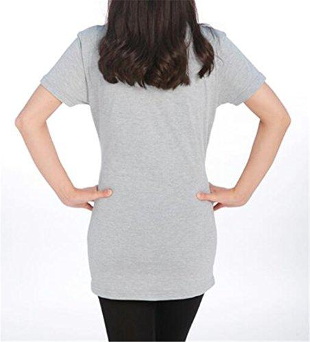 Corta Estive Grey2 Divertente Camicetta Manica T Donna Premaman Gravidanza Shirt Top Stampa Kerlana Bluse Magliette Magliette qxwa4zqf