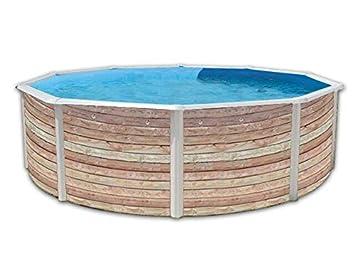 TOI - Piscina PINUS CIRCULAR 350x120 cm Filtro 3,6 m³/h.: Amazon.es: Juguetes y juegos