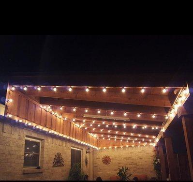 50ft Outdoor G40 Globe String Lights with 50 Clear Bulbs, Edison String Lights for Wedding Patio Backyard Pergola Garden Party Cafe Bistro Deckyard Umbrella Christmas Decoration, Black by MineTom (Image #6)