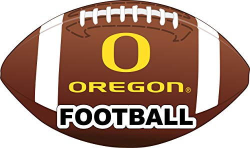 (R and R Imports Oregon Ducks 4-Inch Round Football Vinyl Decal)