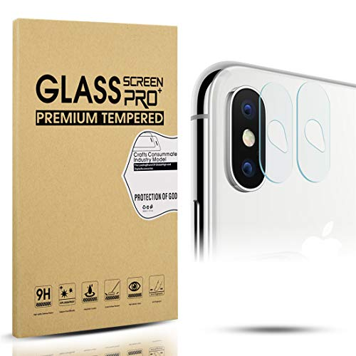 Diruite 4-Pack for iPhone X 2017 / XS 2018 / XS Max Camera Lens Protector, 2.5D 9H Hardness Tempered Glass Protector for iPhone X/XS / XS Max - Permanent Warranty Replacement