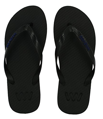 Infradito In Gomma Naturale 100% Per Uomo E Donna Pantofole Sandali Unisex Regular Fit - Essenziale Nero