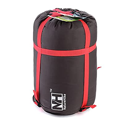 Naturehike Camping Sleeping Bag Pack Compression Bags Storage Carry Bag (Black)