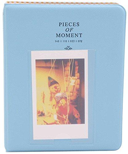 (64 Pockets Instax Mini Photo Album for Fuji/Fujifilm Film 7s 8 8+ 9 25 26 50s 70 90 SP 1, Instant Camera Polaroid Z2300 Pic-300P Name Card Picture Accessories, Wedding Photos (1, Blue))