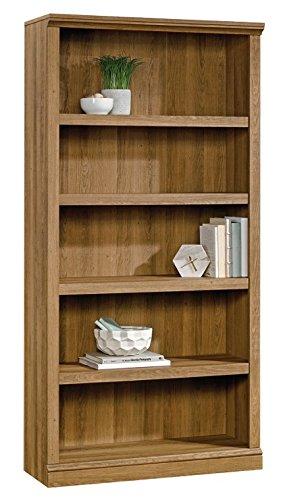 Amazon Com Realspace Premium 70 H 5 Shelf Bookcase Golden