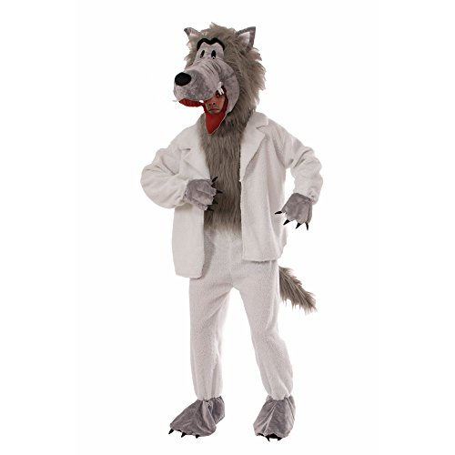 Forum Novelties Men's Wolf In Sheep's Clothing Plush Mascot Costume, Multi Colored, One Size - Werewolf Suit