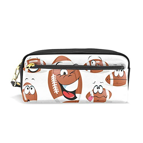 (Top Carpenter Pencil Case Pouch Bag Rugby Ball for Makeup Office Student 7.9x2.4x3.5in )