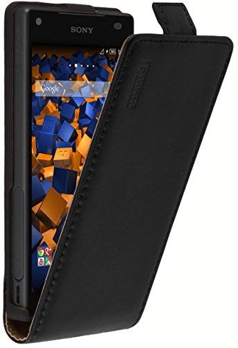 mumbi PREMIUM Leder Flip Case für Sony Xperia Z5 Compact Tasche